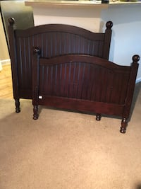 brown wooden bed headboard and footboard Las Vegas, 89148
