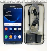 Galaxy S7 Edge (32GB) GSM-UNLOCKED + Accessories Arlington