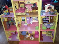 Fully loaded!! fisher price loving family twin time dollhouse (discontinued by manufacturer )