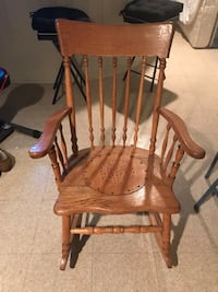 brown wooden windsor rocking chair South Plainfield, 07080