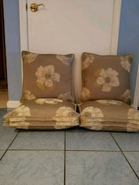 Four new linen double roped pillows