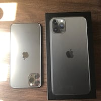 Iphone 11 promax 256gb silver black