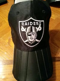 black and white Oakland Raiders cap Caledon, L7E 2E7