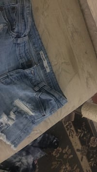 blue denim distressed short shorts Kelowna, V1Y 6X7