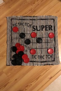 Tic-Tac-Toe & Checkers Board Hand Sewn XLSize (Huge Game & Pieces)
