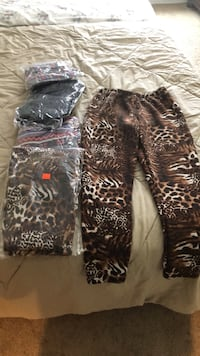 black and brown leopard print pants Fairfax, 22030