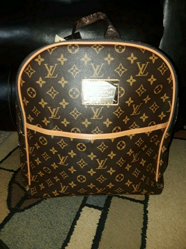 6821f86028fa Used brown Louis Vuitton leather backpack for sale in Snellville - letgo