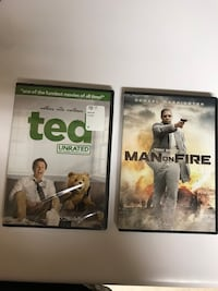 Ted and man on fire