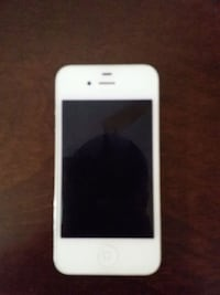 white iPhone 4 with black case 33 mi
