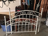 Double rot iron bed, with ceramic post ends Barrie, L4M 6S9