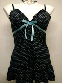 #10 Black and blue polka dot Nighty Live Oak, 78233