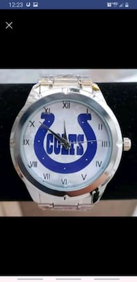 Stainless steel Indiannapolis Colts watch