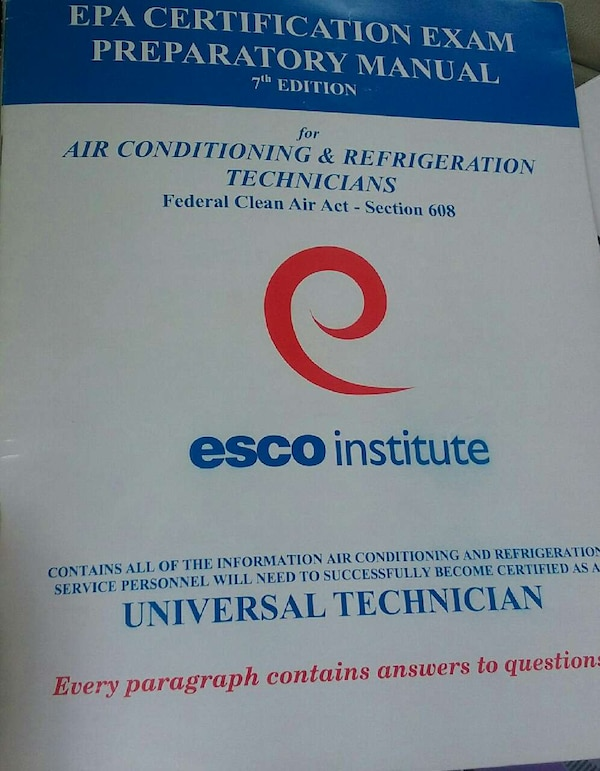 Used epa certification exam preparatory manual 7th edition for sale ...