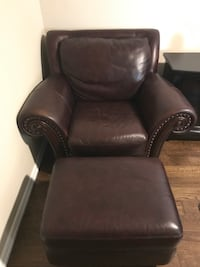 Leather chair and ottoman Euless