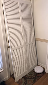 louver white  bifold  closet doors 2 with hardware 36x80 Murray, 84107