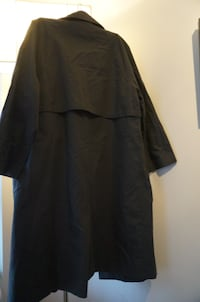 Brand New Never Worn Black Long Sleeve Trench Coat Coquitlam