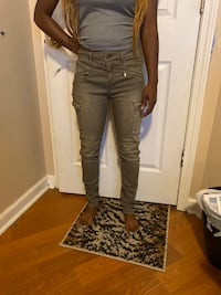 H&M Olive Cargo Jeans