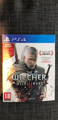 Sony PS4 The Witcher Wild Hunt spill tilfelle Bergen, 5055