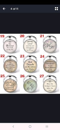 Quote Keychain special Message Silver Keychain gifts