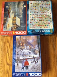 Eurographics 1000pc Puzzles ($9.99 ea. or 3 for $25) Calgary, T3H 5T6