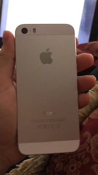 silver iPhone 5S 32 GB with case