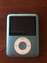 Generation 2 Blue 8G iPod Nano with Charging Cable