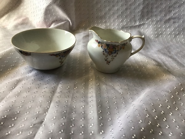 Vintage Creamer and Bowl 1