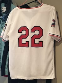 AUTHENTIC TWINS JEARSY white and red #22 Jersey shirt. JUST DISCOUNTED
