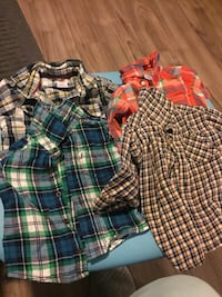 12-18 months little boy plaid shirts