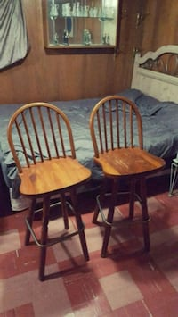 two brown wooden windsor chairs Toronto, M3H