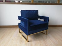 blue and gold accent chair Toronto