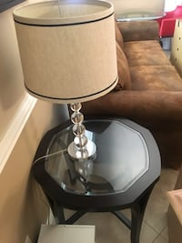 silver-colored base white shade table lamp Fort Myers, 33907