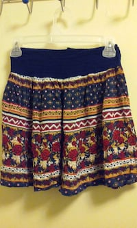 blue brown and red floral pleated mini skirt Kalamazoo, 49006