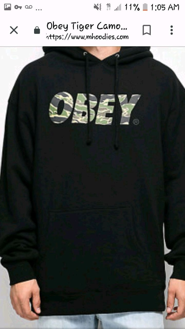 b6216d66e037 Used Black   camo OBEY hoodie for sale in Medford - letgo