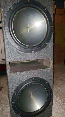 "2 12"" kenwood subs & vented box"