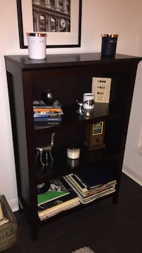 "Brown Shelving Unit...Bought at Homesense for over $160, excellent condition..PICK UP ONLY PLEASE. 30.5"" W 13.5"" D 48"" H"