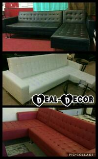 Leather Sectional/Sofa Bed