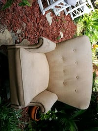 Antique butterfly wing back nailhead chair. Panama City Beach, 32413