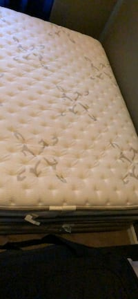 Queen tufted white and gray floral mattress Ellicott City, 21042