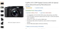 FUJIFILM X10 12MP CAMERA (DISCONTINUED)  Hamilton, L8P 3Z7