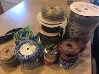 Huge lot of 27 rolls of assorted christmas holiday ribbon - most new unopened Payson, 84651
