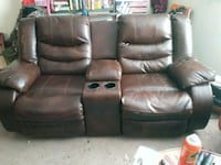brown leather home theater sofa Amarillo