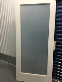 "FROSTED GLASS WOOD DOOR SLAB - 36"" (new)"