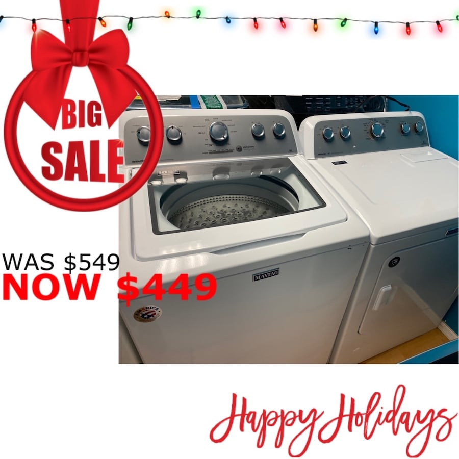 Maytag Top Load Washer and Gas Dryer Set