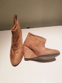 Size 9 Brown wedge booties  Abbotsford