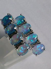 Pretty Blue Fire Opal Post Earrings Mount Pleasant, 48858