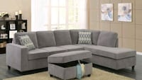 [MONTHLY SPECIAL] Corvin Gray Reversible Sectional Houston, 77036