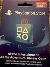 Psn 100 USD gift card
