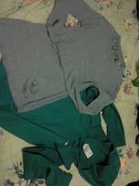 gray sweatshirt and green pullover hoodie Lloydminster, T9V 1A8