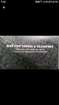 Motorcycle towing and transport  Paterson